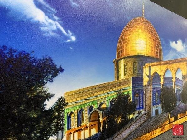 Malaysian Artist   BK Yap   Famous Malaysian Artworks mosque painting